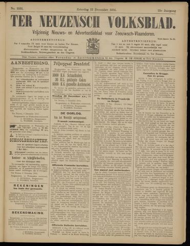 Ter Neuzensch Volksblad. Vrijzinnig nieuws- en advertentieblad voor Zeeuwsch- Vlaanderen / Zeeuwsch Nieuwsblad. Nieuws- en advertentieblad voor Zeeland 1914-12-12