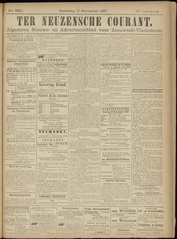 Ter Neuzensche Courant. Algemeen Nieuws- en Advertentieblad voor Zeeuwsch-Vlaanderen / Neuzensche Courant ... (idem) / (Algemeen) nieuws en advertentieblad voor Zeeuwsch-Vlaanderen 1917-11-17
