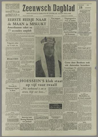 Zeeuwsch Dagblad 1958-08-18