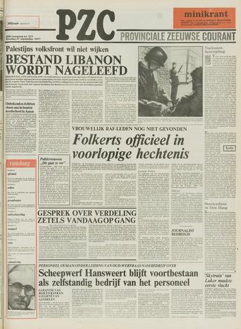 Provinciale Zeeuwse Courant 1977-09-27