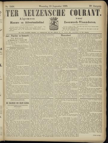 Ter Neuzensche Courant. Algemeen Nieuws- en Advertentieblad voor Zeeuwsch-Vlaanderen / Neuzensche Courant ... (idem) / (Algemeen) nieuws en advertentieblad voor Zeeuwsch-Vlaanderen 1888-09-19