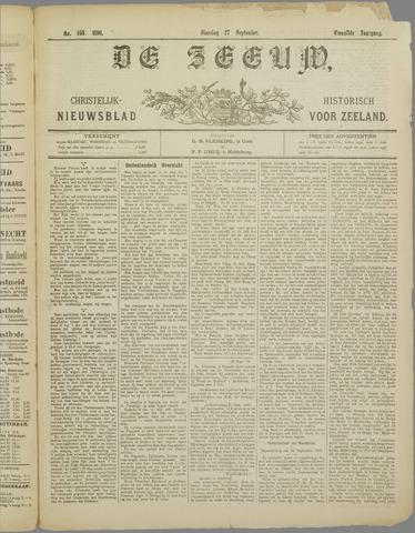 De Zeeuw. Christelijk-historisch nieuwsblad voor Zeeland 1898-09-27