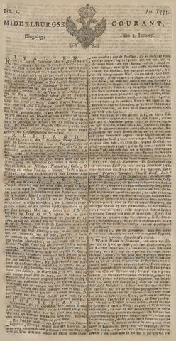 Middelburgsche Courant 1775