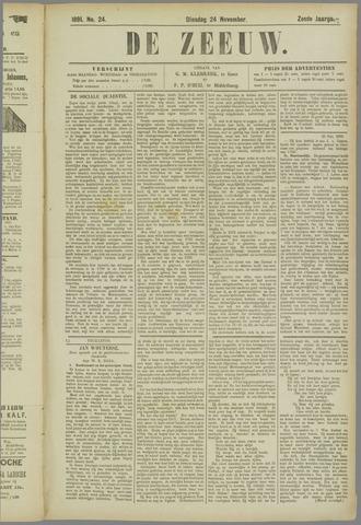 De Zeeuw. Christelijk-historisch nieuwsblad voor Zeeland 1891-11-24