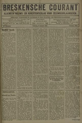 Breskensche Courant 1922-01-21