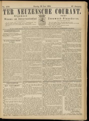 Ter Neuzensche Courant. Algemeen Nieuws- en Advertentieblad voor Zeeuwsch-Vlaanderen / Neuzensche Courant ... (idem) / (Algemeen) nieuws en advertentieblad voor Zeeuwsch-Vlaanderen 1905-06-20