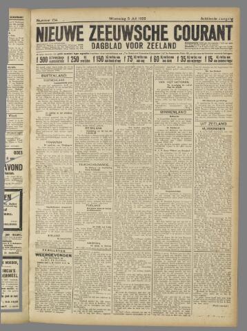 Nieuwe Zeeuwsche Courant 1922-07-05