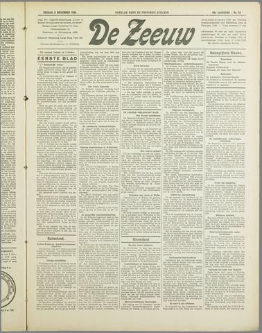 De Zeeuw. Christelijk-historisch nieuwsblad voor Zeeland 1934-11-02