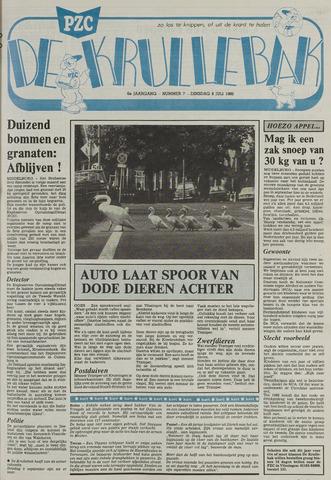 Provinciale Zeeuwse Courant katern Krullenbak (1981-1999) 1986-07-08