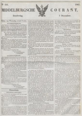 Middelburgsche Courant 1867-12-05