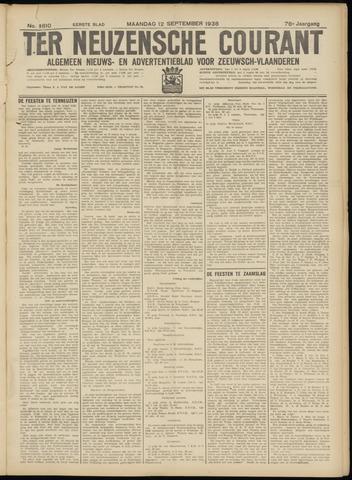 Ter Neuzensche Courant. Algemeen Nieuws- en Advertentieblad voor Zeeuwsch-Vlaanderen / Neuzensche Courant ... (idem) / (Algemeen) nieuws en advertentieblad voor Zeeuwsch-Vlaanderen 1938-09-12