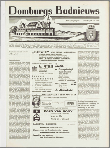 Domburgsch Badnieuws 1969