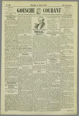 Goessche Courant 1924-04-08
