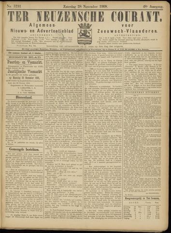 Ter Neuzensche Courant. Algemeen Nieuws- en Advertentieblad voor Zeeuwsch-Vlaanderen / Neuzensche Courant ... (idem) / (Algemeen) nieuws en advertentieblad voor Zeeuwsch-Vlaanderen 1908-11-28