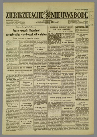 Zierikzeesche Nieuwsbode 1960-09-05