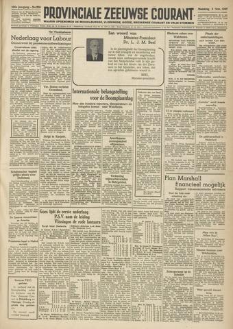 Provinciale Zeeuwse Courant 1947-11-03