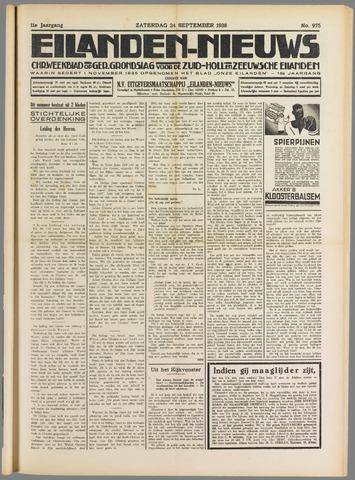 Eilanden-nieuws. Christelijk streekblad op gereformeerde grondslag 1938-09-24