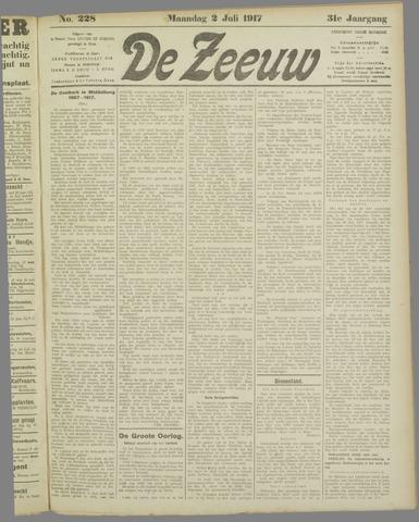 De Zeeuw. Christelijk-historisch nieuwsblad voor Zeeland 1917-07-02
