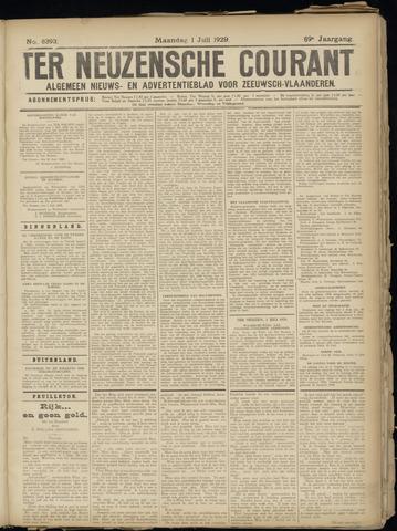 Ter Neuzensche Courant. Algemeen Nieuws- en Advertentieblad voor Zeeuwsch-Vlaanderen / Neuzensche Courant ... (idem) / (Algemeen) nieuws en advertentieblad voor Zeeuwsch-Vlaanderen 1929-07-01