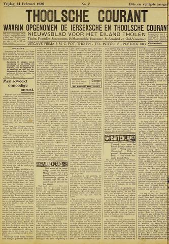 Ierseksche en Thoolsche Courant 1936-02-14