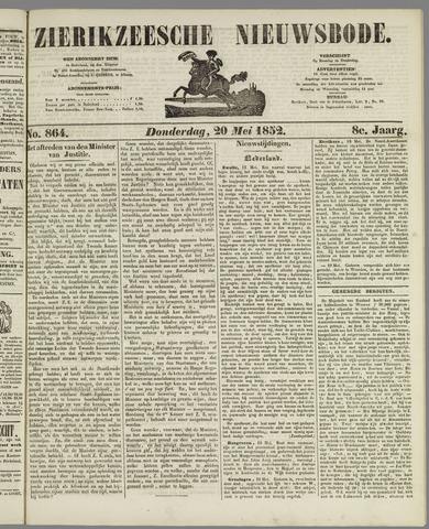 Zierikzeesche Nieuwsbode 1852-05-20