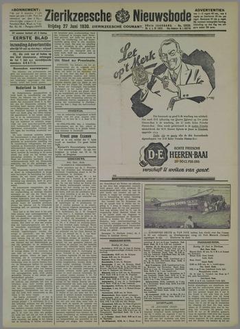 Zierikzeesche Nieuwsbode 1930-06-27
