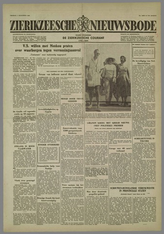 Zierikzeesche Nieuwsbode 1958-08-01