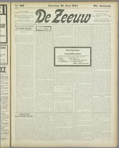 De Zeeuw. Christelijk-historisch nieuwsblad voor Zeeland 1924-06-28
