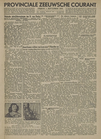 Provinciale Zeeuwse Courant 1944-09-01