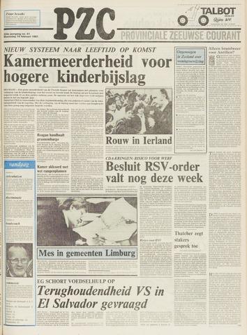 Provinciale Zeeuwse Courant 1981-02-18