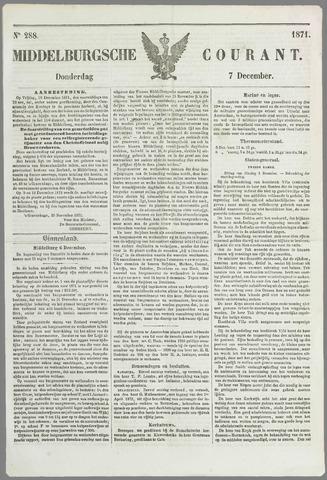 Middelburgsche Courant 1871-12-07