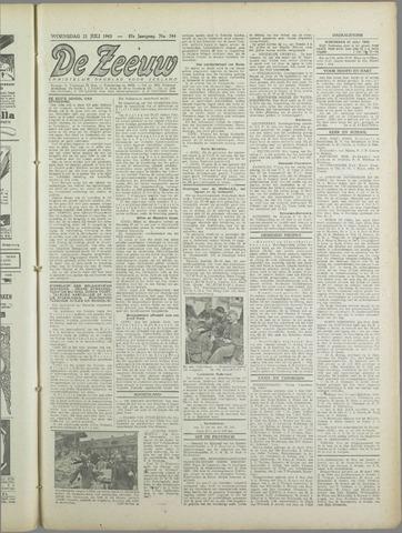 De Zeeuw. Christelijk-historisch nieuwsblad voor Zeeland 1943-07-21