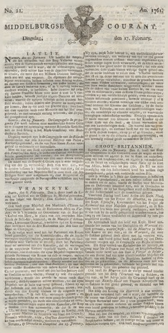 Middelburgsche Courant 1761-02-17