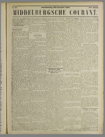 Middelburgsche Courant 1919-01-23