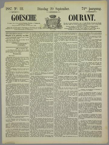 Goessche Courant 1887-09-20