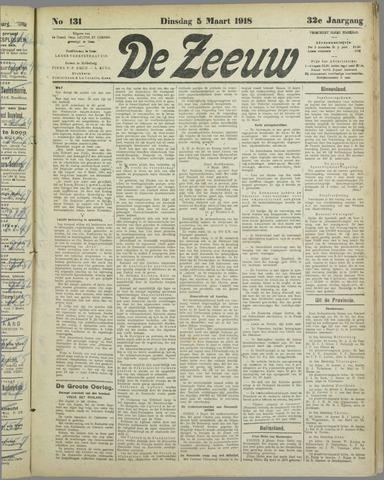 De Zeeuw. Christelijk-historisch nieuwsblad voor Zeeland 1918-03-05