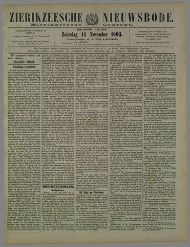 Zierikzeesche Nieuwsbode 1903-11-14