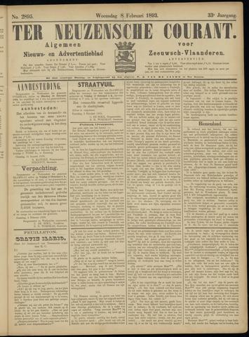 Ter Neuzensche Courant. Algemeen Nieuws- en Advertentieblad voor Zeeuwsch-Vlaanderen / Neuzensche Courant ... (idem) / (Algemeen) nieuws en advertentieblad voor Zeeuwsch-Vlaanderen 1893-02-08