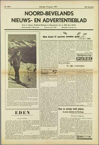 Noord-Bevelands Nieuws- en advertentieblad 1957-01-19