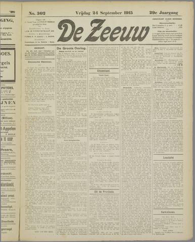 De Zeeuw. Christelijk-historisch nieuwsblad voor Zeeland 1915-09-24