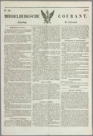 Middelburgsche Courant 1871-02-25