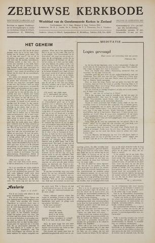 Zeeuwsche kerkbode, weekblad gewijd aan de belangen der gereformeerde kerken/ Zeeuwsch kerkblad 1957-08-23