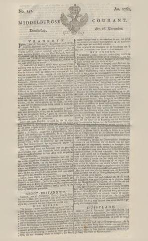 Middelburgsche Courant 1761-11-26