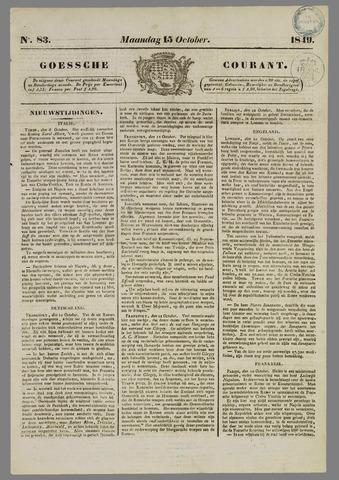 Goessche Courant 1849-10-15