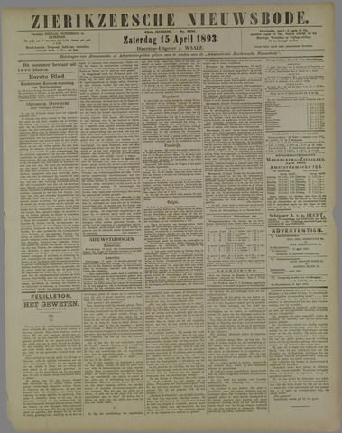 Zierikzeesche Nieuwsbode 1893-04-15