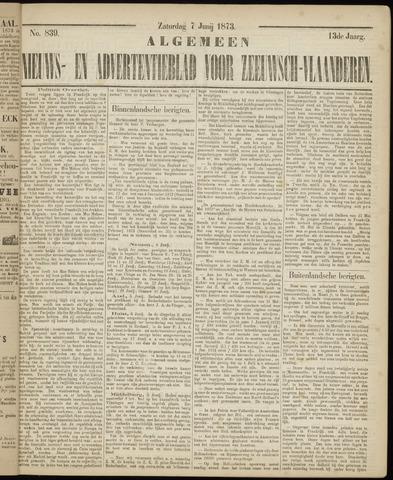 Ter Neuzensche Courant. Algemeen Nieuws- en Advertentieblad voor Zeeuwsch-Vlaanderen / Neuzensche Courant ... (idem) / (Algemeen) nieuws en advertentieblad voor Zeeuwsch-Vlaanderen 1873-06-07