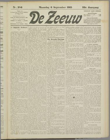De Zeeuw. Christelijk-historisch nieuwsblad voor Zeeland 1915-09-06