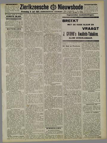 Zierikzeesche Nieuwsbode 1921-07-06