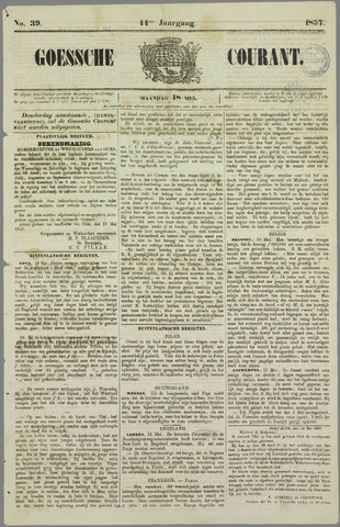 Goessche Courant 1857-05-18