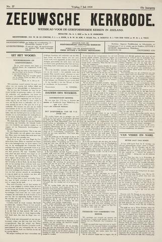 Zeeuwsche kerkbode, weekblad gewijd aan de belangen der gereformeerde kerken/ Zeeuwsch kerkblad 1939-07-07